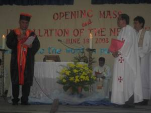 Installation of Fr. Dominador O. Ramos, SVD as the 13th DWCU President