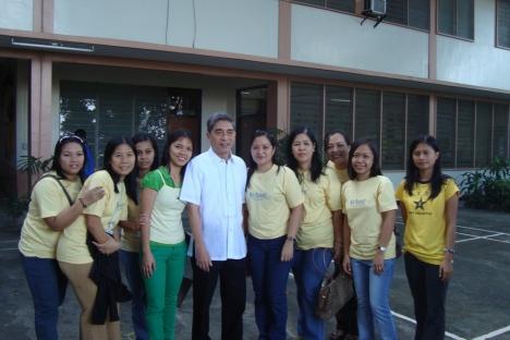 DWCU Staff w/ Fr. Pernia