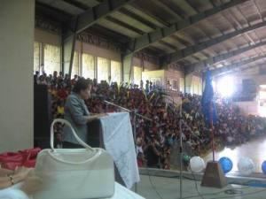 Dr. Maria Celia Junio-Fernandez the Schools Division Superintendent