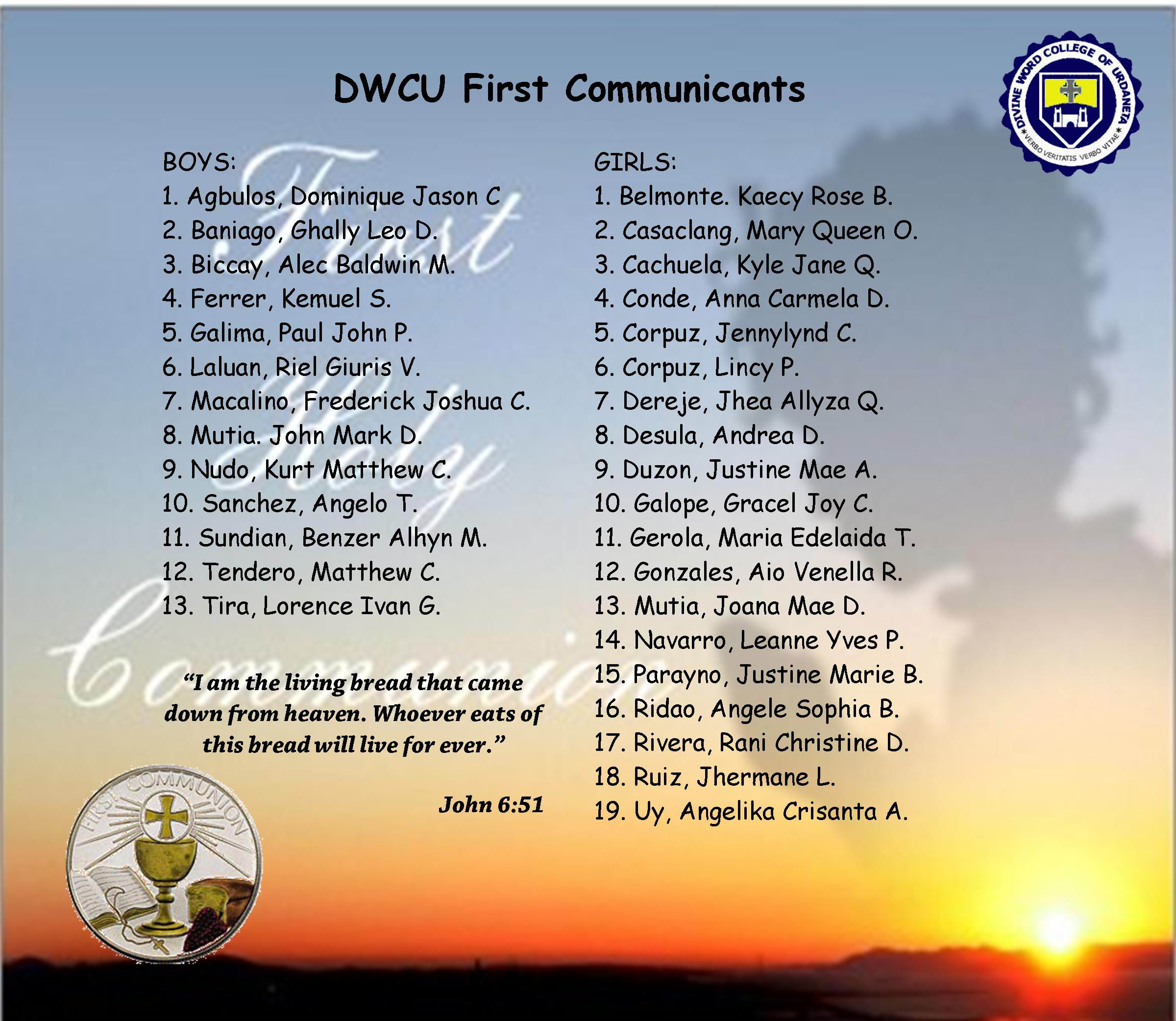 Greetings Divine Word College Of Urdaneta
