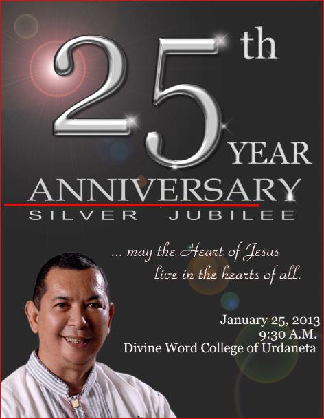 Silver jubilee of priestly ordination of fr gil t manalo svd fr gil silverjubilee stopboris Choice Image