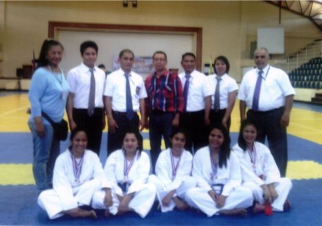 DWCU Karatedo Women participants together with Coach Cora and Officials