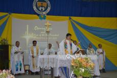 Fr. Edwin Fernadez, SVD, the Mass Presider during the Opening Mass for the SY 2017-2108