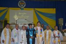 (l-r)Fr. Bernard Teneza, SVD, Fr. Edgar Calunod, SVD, Fr. Venerando Yator, SVD, Fr. Roberto J. Ibay, SVD, Fr. Edwin Fernandez, SVD, Fr. Albert Viernes, and Fr. Leonardo Hiquiana, SVD