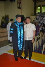 Fr. Roberto J. Ibay, SVD with fellow DWCU Alumnus, Hon. Vice Mayor Julio Parayno III