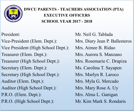 PTA Officers 2017